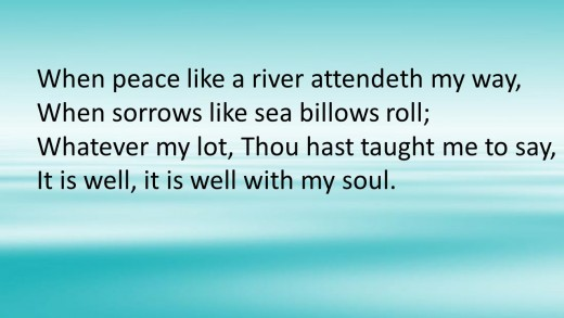 When peace like a river....