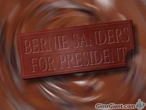 "I created this meme using the GlassGiant site. Maybe I should have made the message, ""I'm sweet on Bernie."""