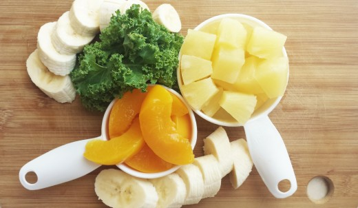 Peaches, Bananas, and Pineapple are delicious fruits packed with Vitamin C