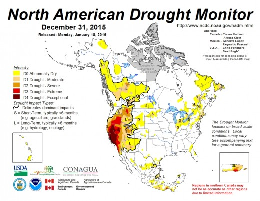 The North America Drought Monitor (NADM) is a cooperative effort between drought experts in Canada, Mexico and the United States to monitor drought across the continent on an ongoing basis.