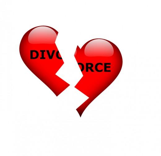 Divorce. image of broken heart