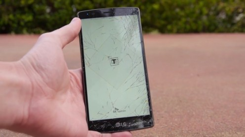 LG G Stylo dropped without a casing on.