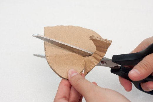 Cut a heart shape out of your corrugated cardboard