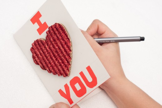 Write a special Valentine's Day message inside your beautiful homemade card