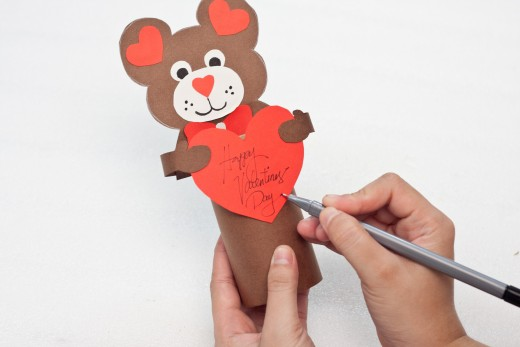 Write a Valentine's Day message on your big heart