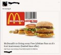 "McDonald's is NOT giving away ""Lifetime Passes"" on Facebook!"