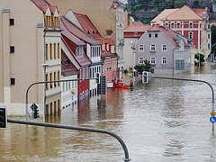 Houses flooded.