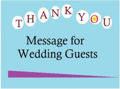 Thank you Message for Wedding Guests―Samples of what to write in a Card