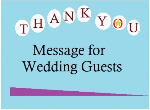 Thank you message for wedding guests
