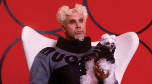 Ferrell's appearance as designer Mugatu is, like much of the film, a bit weird...