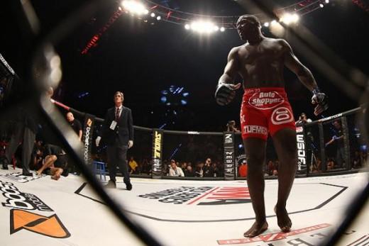 Anthony Johnson (red trunks). Photo: Dave Mandel/Sherdog.com