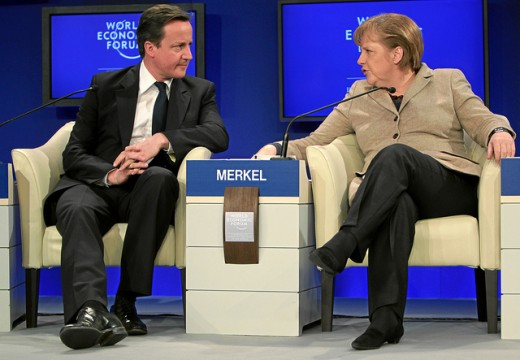 David Cameron In A Meeting Angela Merkel.