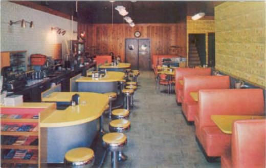 Mickey's Cafe, 1950's... was in the building across from the Pokegema Hotel.  Corner of building.