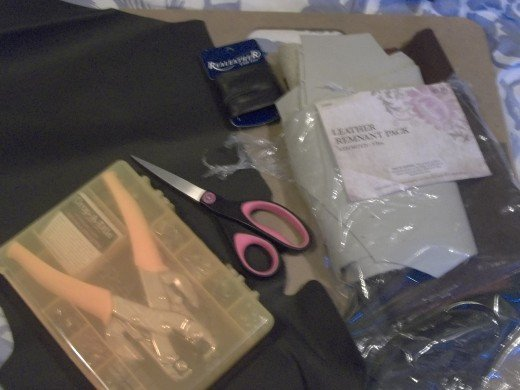 Some of the Supplies I used in making my arm bacers.