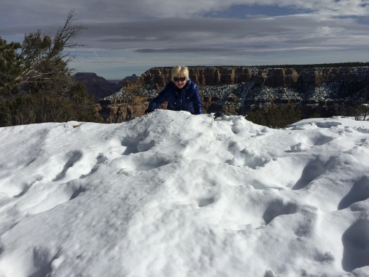 Deep snow at the Grand Canyon