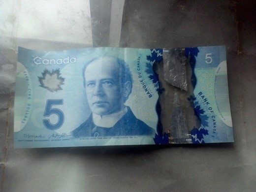 Five dollars Canadian.