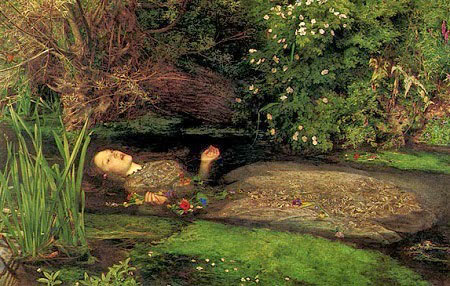 Ophelia modeled by Elizabeth Siddal