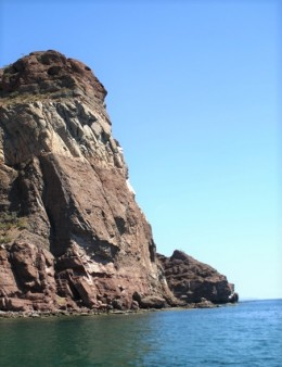 Punta Berrendo . . . there's a narrow cave in the rock face you can enter from the water