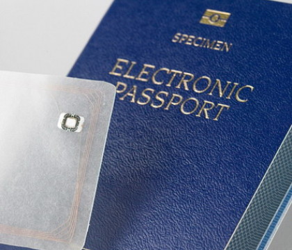 Passport with microchip