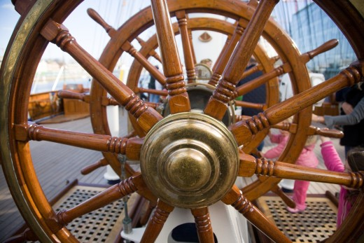 Wheel of a tall ship