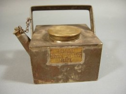 Antique brass kettle