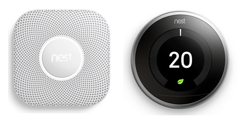 Nest Smoke Detector and Thermostat