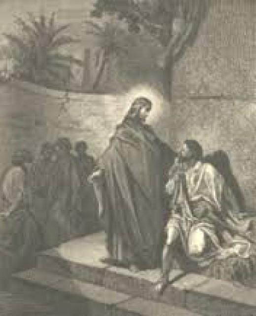 Depiction of Christ dispelling a demon