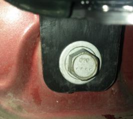 One lower screw.