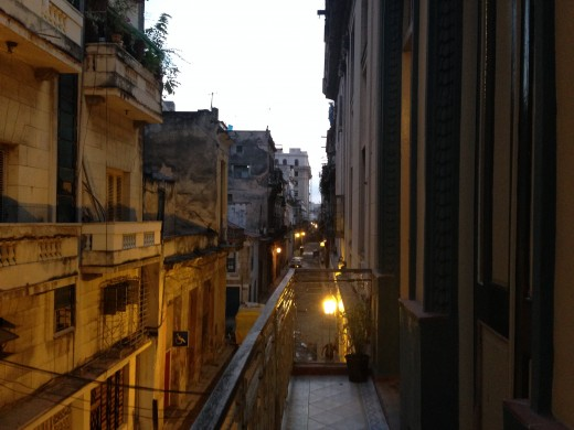 View from a balcony in Havana