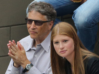 Bill Gates and his daughter Jennifer.  His net worth was reported as $79.2 billion in 2015.
