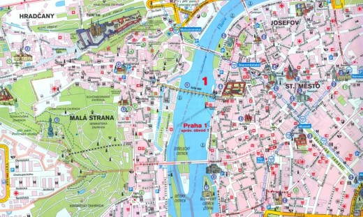 Eight Places You Should Visit in Prague – Tourist Map of Prague