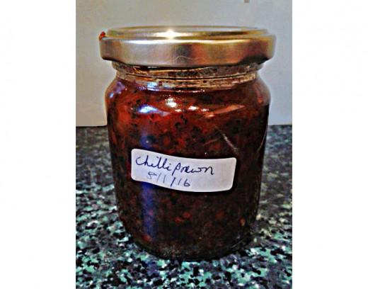 A Jar of Homemade Chilli Prawn Paste