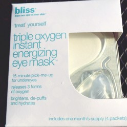 Spa at home, from QVC: bliss triple oxygen instant energizing eye mask