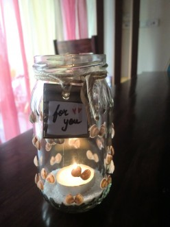 DIY Valentine's Day Table Lamp - Upcycled Candle Holder