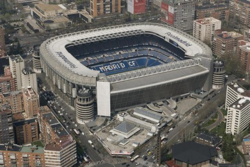 The Estadio de Santiago Bernabeu