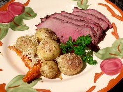 Grilled Sirloin Tip Roast with Italian Seasoned Veggies