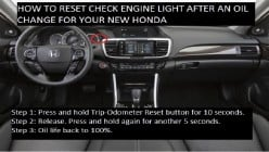 How to reset the engine light for your Honda after an oil change