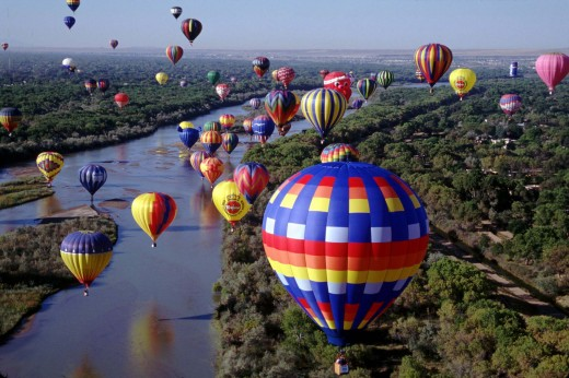 Albuquerque International Balloon Fiesta: like gifts falling from the sky
