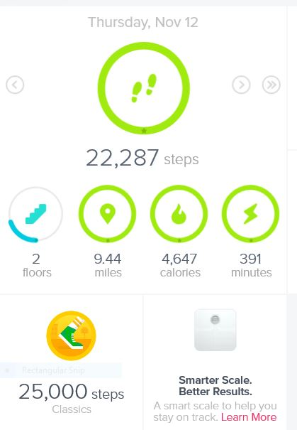 Data from the Fitbit Charge HR