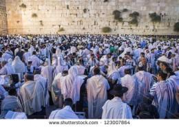 Jews at wailing wall