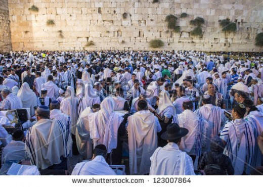 Jews at wailing wall