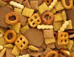 bagel crisps  and pretzels