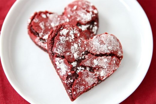 Look at this heart shaped cookie recipe I found at Two Peas & Their Pod.  It is for red velvet cookies, and they sound great for any time of year, not just Valentine's Day.