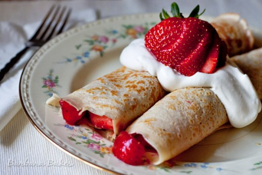 Strawberry Crepes For A Valentine's Day Breakfast