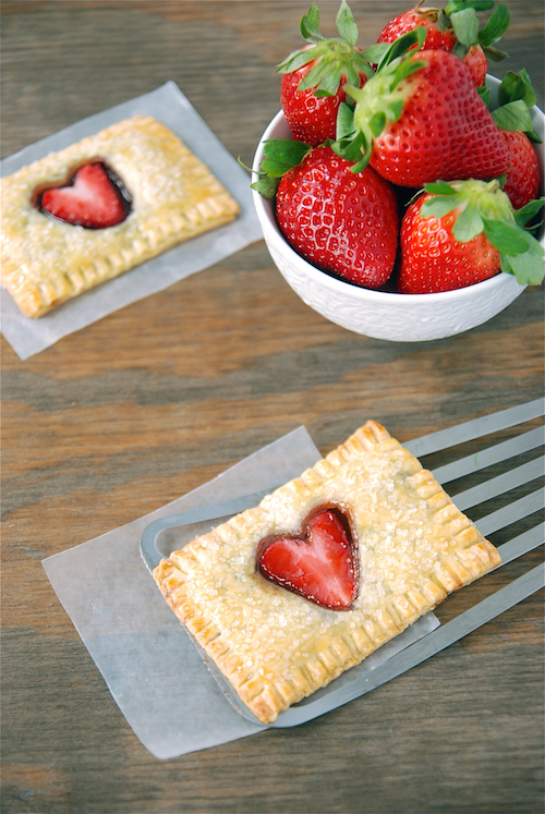 Strawberry Nutella Poptarts Make A Great Kid's Valentine's Day Breakfast
