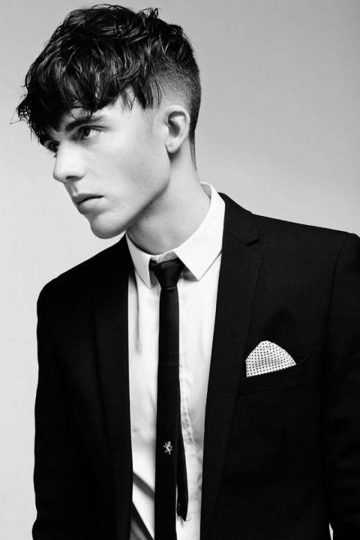 Angular fringe hairstyle for men