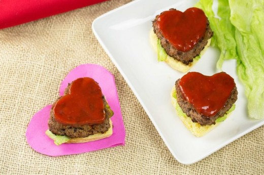 Heart shaped Valentine's Day recipe.
