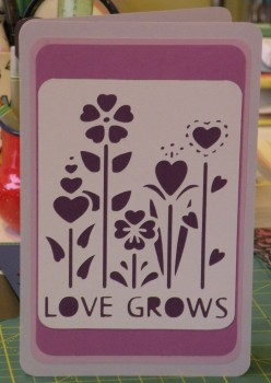 Valentine's Day Homemade card - Love Grows