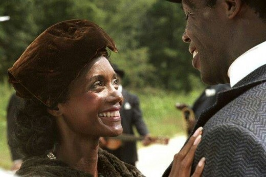 "Margaret Avery and Danny Glover in Steven Spielberg's ""The Color Purple"""