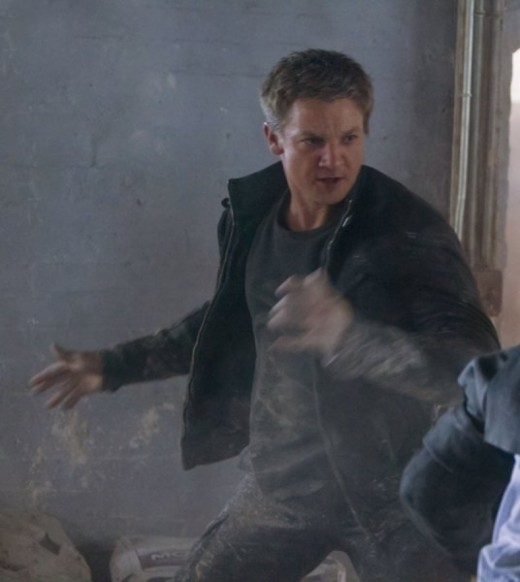 Renner's physicality lends itself well to the role of a hunted rogue agent